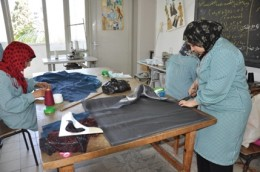 Advanced Dressmaking students during their practical training