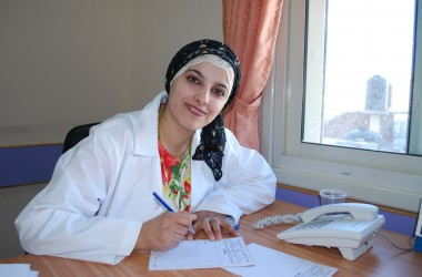 As part of its commitment to protect the rights of those most marginalized, the LWF promotes access to educational loans and grants awarded to Palestinian youth, such as Dr. Maysa'a Sea'fan, who received a scholarship to study medicine at Al-Quds University and has become one of three female obstetricians/gynecologists serving in Hebron. Photo by B. Moyer