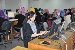 Secretarial students during the training course in NECC